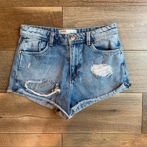 Zara Basic Ripped Jeans